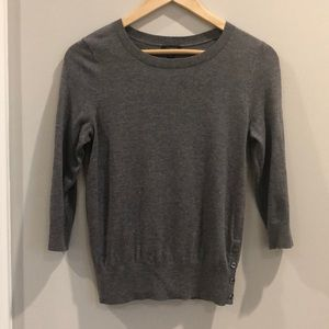 Ann Taylor 3/4 Sleeve Crewneck Sweater